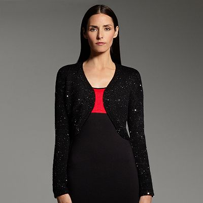 Narciso Rodriguez for DesigNation Sequin Bolero Shrug