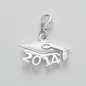 Personal Charm Sterling Silver 2014 Graduation Cap Charm
