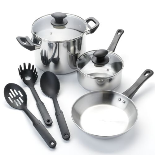 Kitchen a la carte 8-pc. Stainless Steel Cookware Set