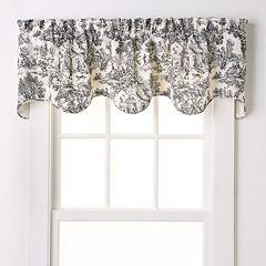 Ellis Curtains Toile Scalloped Window Valance