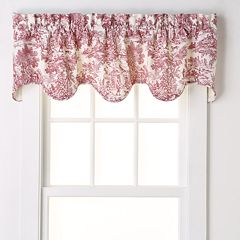 Ellis Curtains Toile Scalloped Window Valance