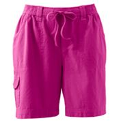 Gloria Vanderbilt Cargo Sheeting Shorts - Petite