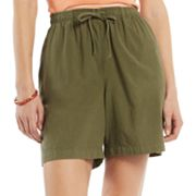 Gloria Vanderbilt Sheeting Shorts - Petite