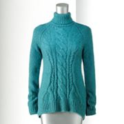 Simply Vera Vera Wang Lurex Wool Turtleneck Sweater - Petite