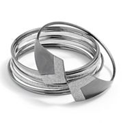 Apt. 9 Two Tone Chevron Bangle Bracelet Set