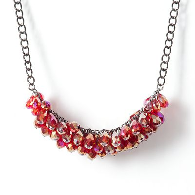 Simply Vera Vera Wang Jet Bead Cluster Necklace