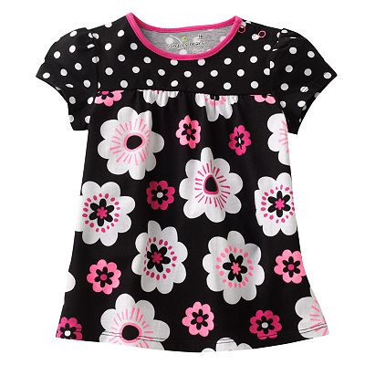 Jumping Beans Floral and Polka-Dot Babydoll Top - Baby