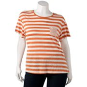 SONOMA life + style Striped Slubbed Tee - Women's Plus