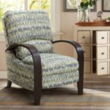 Madison Park Geometric Bent Arm Recliner Chair