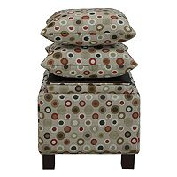 Madison Park 3-pc. Ottoman & Pillow Set