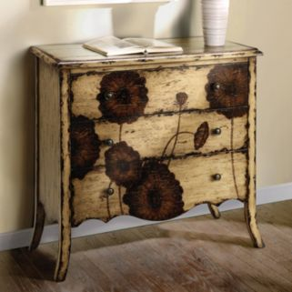 Madison Park 3-Drawer Floral Accent Chest