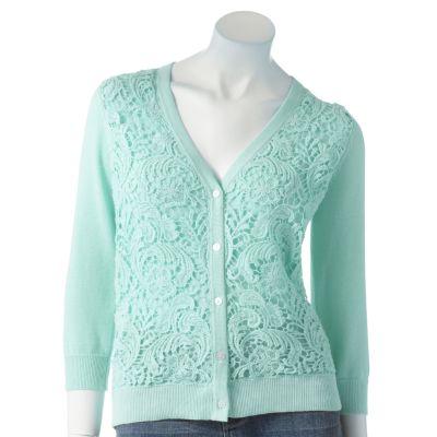 Apt. 9 Crochet Overlay Cardigan