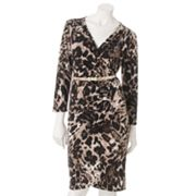 Dana Buchman Animal Faux-Wrap Dress