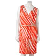 Dana Buchman Striped Surplice Dress