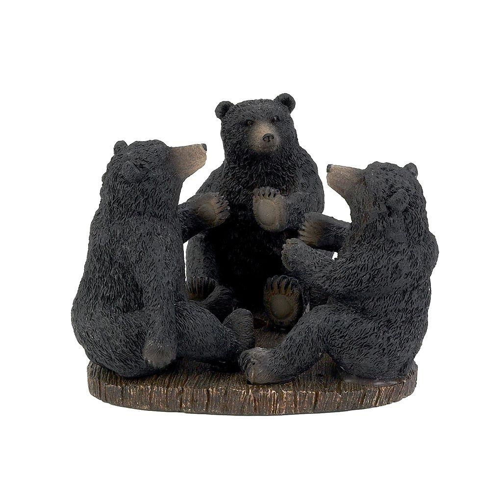 Avanti Black Bear Lodge Toothbrush Holder