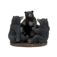 Avanti Black Bear Lodge Toothbrush Holder