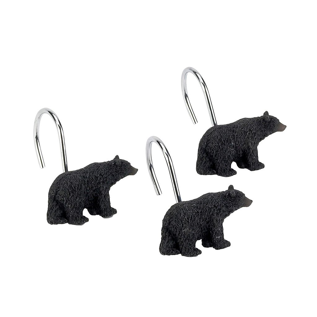 Avanti Black Bear Lodge 12-pk. Shower Curtain Hooks