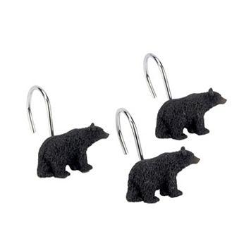 Avanti Black Bear Lodge 12-pk. Shower Curtain Hooks