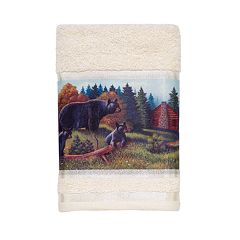 Avanti Black Bear Lodge Hand Towel