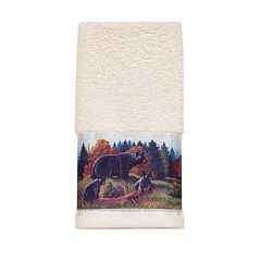 Avanti Black Bear Lodge Fingertip Towel