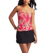 Croft and Barrow Fit for You Bust Enhancer Tankini Top