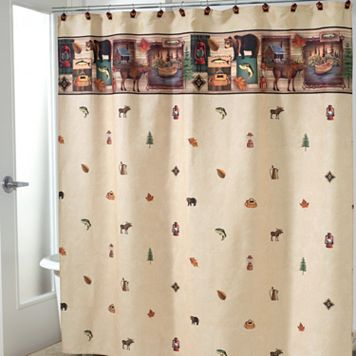 Avanti Camping Trip Fabric Shower Curtain