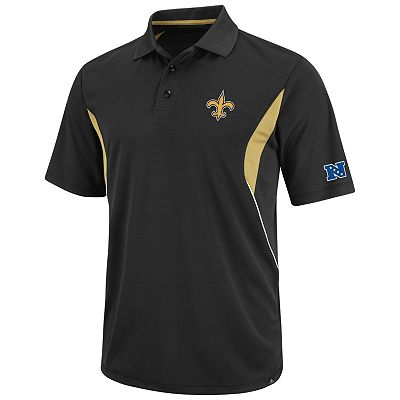 New Orleans Saints Field Classic Performance Polo - Big and Tall