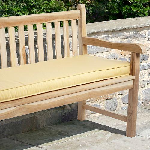 """Mozaic Sunbrella 60"""" x 19"""" Canvas Outdoor Bench Cushion"""