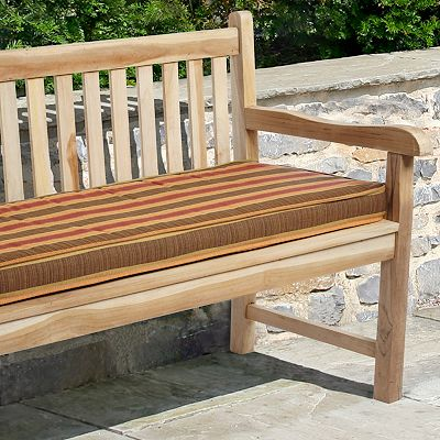 Mozaic Sunbrella 60'' x 19'' Striped Outdoor Bench Cushion