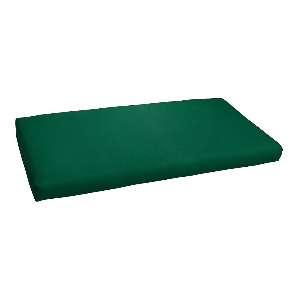 """Mozaic Sunbrella 48"""" x 19"""" Canvas Outdoor Bench Cushion"""