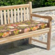 "Mozaic P. Kaufmann 60"" x 19"" Floral Outdoor Bench Cushion"