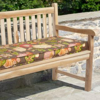 Mozaic P. Kaufmann 60'' x 19'' Floral Outdoor Bench Cushion