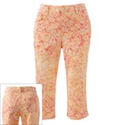 Gloria Vanderbilt Amanda Animal Denim Capris - Petite