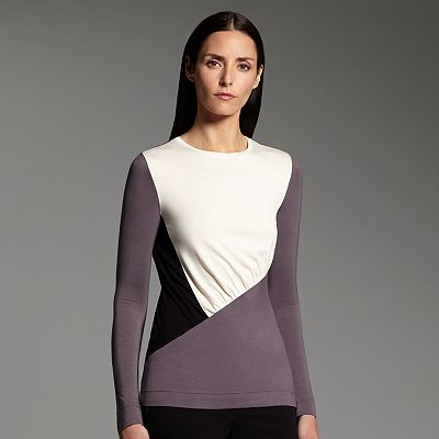 Narciso Rodriguez for DesigNation Colorblock Shirred Top