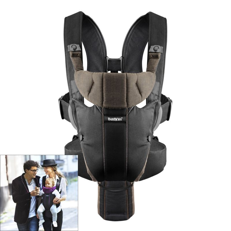 BabyBjorn Miracle Organic Baby Carrier - Brown, Multicolor