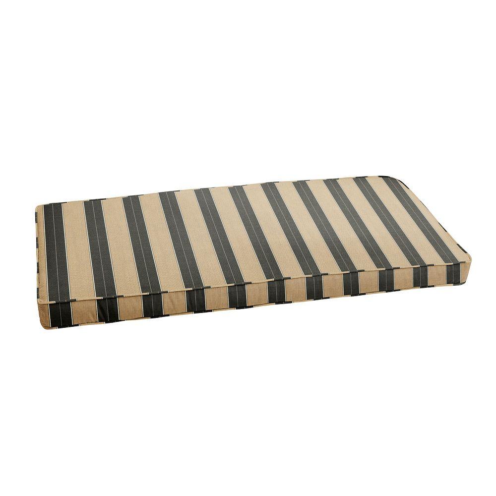 "Mozaic Sunbrella 48"" x 19"" Striped Outdoor Bench Cushion"