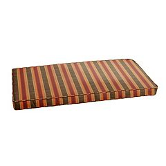 Mozaic Sunbrella 48' x 19' Multi-Striped Outdoor Bench Cushion