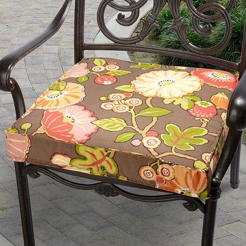 Mozaic P. Kaufmann 19-in. Floral Outdoor Chair Cushion