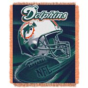 Miami Dolphins Jacquard Throw Blanket by Northwest