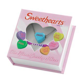 Sweethearts Silver Tone Heart Pendant