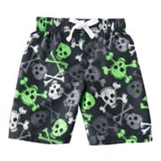 Jumping Beans Skull Swim Trunks -  Toddler
