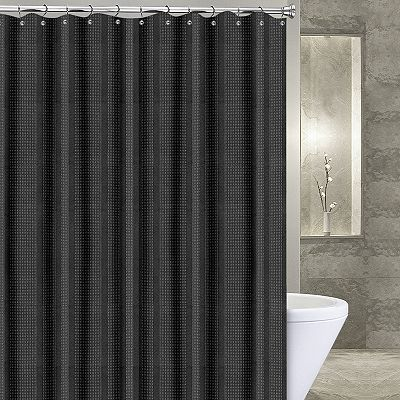 Popular Bath Waffle Stripe Shower Curtain