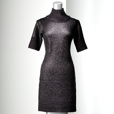 Simply Vera Vera Wang Coated Sweaterdress