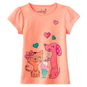 Jumping Beans Cat and Dog Babydoll Tee - Baby