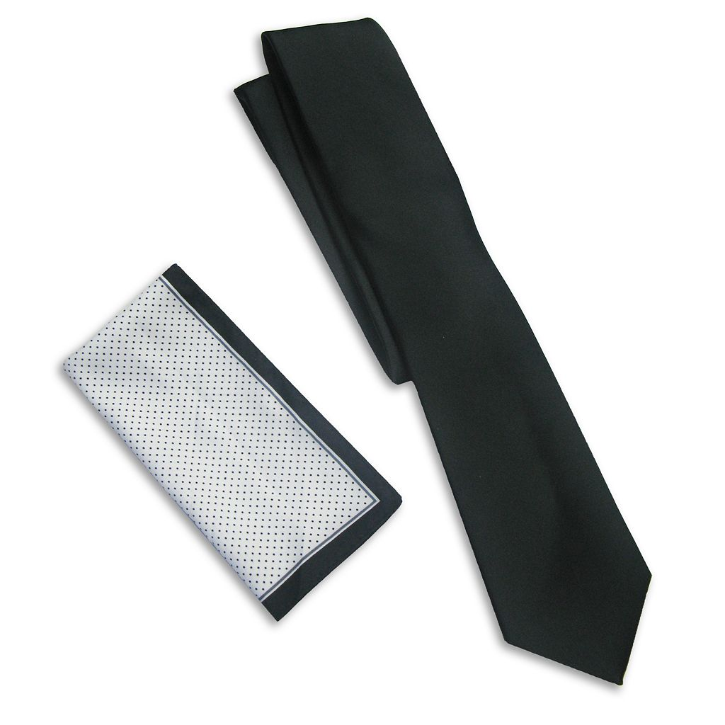 Haggar® Solid Tie & Pocket Square