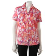 212 Collection Floral Sateen Shirt