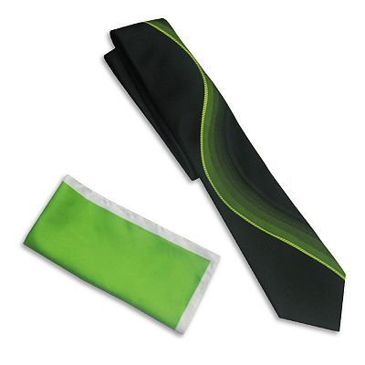 Haggar Brushstroke Tie and Pocket Square