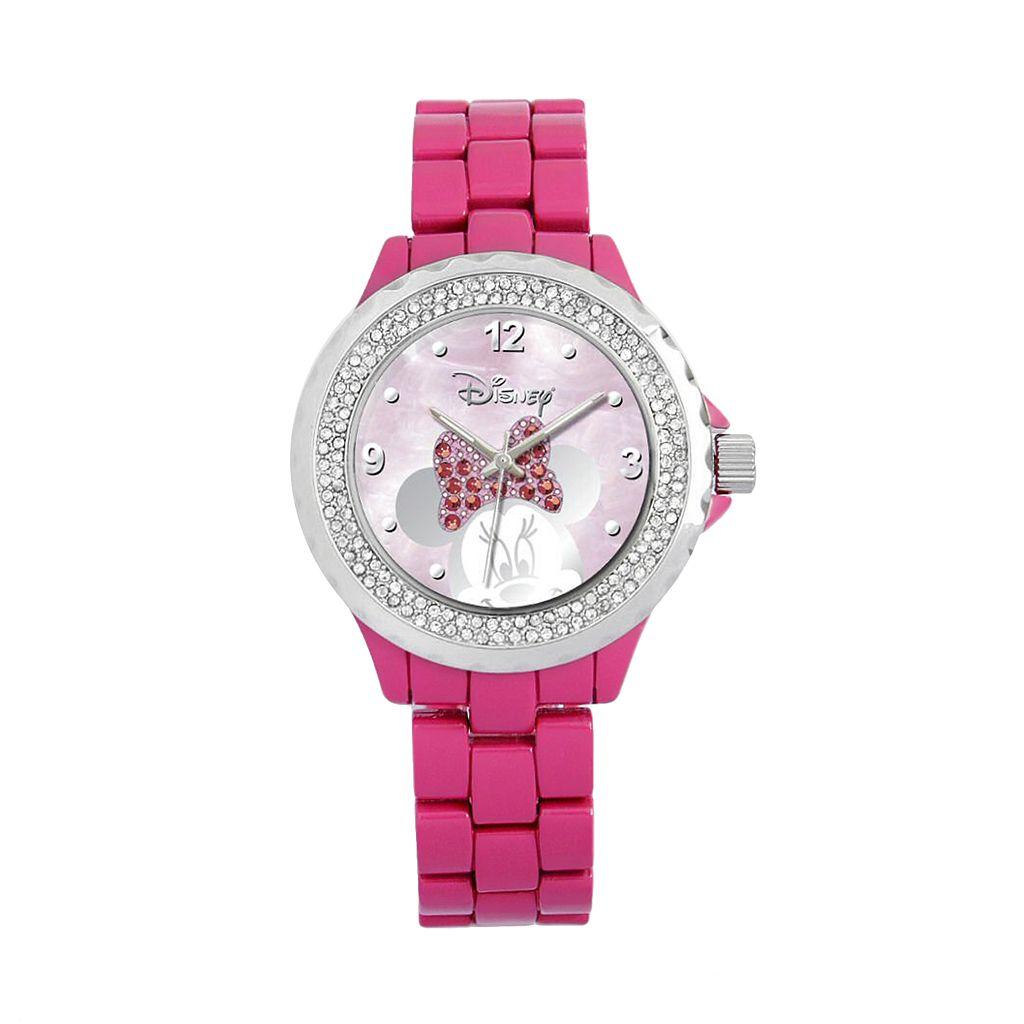 Disney's Minnie Mouse Peekaboo Women's Crystal Watch