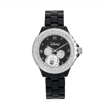 Disney Mickey Mouse Two Tone Simulated Crystal Watch - Women