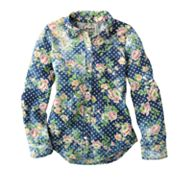 Mudd Floral Denim Shirt - Girls 7-16